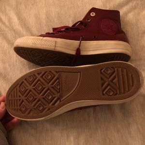 Converse Shoes - Dark Red Converse women's 8.5